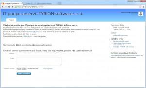 Výchozí obrazovka uživatele portal.tyrionsw.eu